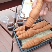 【嘉義】隱藏版美食,店家以販售文房四寶而創出毛筆造型雞蛋糕,平常想吃要先上粉絲團預定的美食。