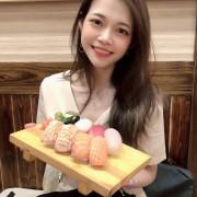 [慧♡響食]坐一下吧.新埔站豪邁超值日式料理.無法一口塞的巨無霸握壽司