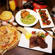 內湖大直美食推薦『Le NINI 樂尼尼義式餐廳/大直ATT店』排餐、義大利麵、拿坡里披薩、兒童車車餐,親子聚餐,好停車,超值套餐,MENU菜單價位(捷運劍南路站)