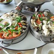 九叔公餐廳~自助沙拉吧吃到飽~觀海景夕陽~台南將軍港~海鮮漁巿~