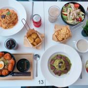 | 高雄美食 | 質感餐廳全白桌椅/加飯加麵不加價/義大利麵、丼飯、沙拉、炸物/真材實料超好吃/高應大學生最愛/半子
