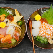 台飯中美食~回 未了 日式丼飯 巷弄裡的老宅日式美味丼飯與和菓子 充滿幸福驚喜與人情味的生日餐