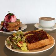 【台北|六張犂站】生活域所 | A Living Labb_開放三明治香氣逼人_綠白配的室內環境氣氛輕鬆悠閒