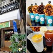 台中下午茶|波波食堂雞蛋仔台中店|大推三星蔥芝士鴨、抹茶搭配沖繩麻糬,口感香酥超對味|港式茶飲|台中甜點|Dyson雞蛋仔