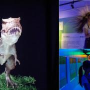 台中親子景點》喜晶A光學觀光工廠 恐龍動起來了!!VR光學投影從遊戲中學習 - 艾莉絲愛旅行