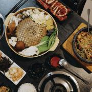 台中美食 深坑什麼鍋|除了鍋之外,也有石鍋拌飯、銅盤烤肉可以選擇!沙鹿美食推薦