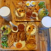 ‖大安食報‖捷運古亭站‖巴和奈野 Brunch Cafe-靜巷裡的白色小屋,擁有豐盛的早午餐、還有營養豐富奇異果。