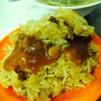 台北市美食 攤販 台式小吃 大龍峒油飯 照片
