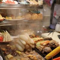 台北市美食 攤販 台式小吃 紅花香腸 照片