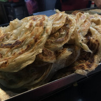台北市美食 攤販 台式小吃 天津蔥抓餅 照片