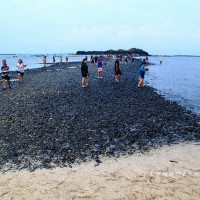 澎湖縣休閒旅遊 景點 海邊港口 摩西分海 照片