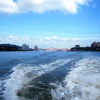 台北市休閒旅遊 景點 海邊港口 淡水藍色公路 照片