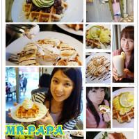 台北市美食 餐廳 飲料、甜品 甜品甜湯 【MR.PAPA】WAFFLE&CAFE比利時鬆餅專賣店(永春店) 照片