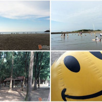 苗栗縣休閒旅遊 景點 海邊港口 通霄海水浴場 照片