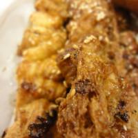台北市美食 攤販 攤販燒烤 包好吃碳烤鹽酥雞 照片