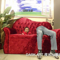 台北市休閒旅遊 景點 藝文中心 DARK ART 夜光3D藝術展 照片