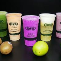 高雄市美食 餐廳 飲料、甜品 飲料專賣店 四季逗 新鮮果汁 木瓜牛奶 照片