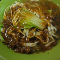 台中市美食 攤販 台式小吃 柳川素食麵 照片