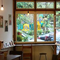 台北市美食 餐廳 咖啡、茶 咖啡館 兔子在公園 照片