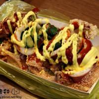 新北市美食 攤販 台式小吃 爆漿脆皮魷魚 照片