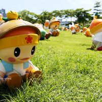 高雄市休閒旅遊 景點 觀光花園 高雄市農業局吉祥物超萌高通通 照片