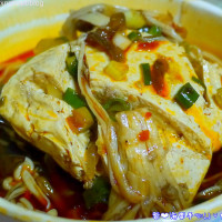 桃園市美食 攤販 台式小吃 不老麻辣鴨血臭豆腐 照片
