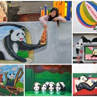雲林縣休閒旅遊 景點 景點其他 搶先曝光全台唯一3D貓熊彩繪村 照片