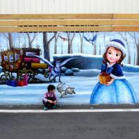 高雄市休閒旅遊 景點 景點其他 後安社區冰雪奇緣彩繪巷(利生精密有限公司外牆) 照片