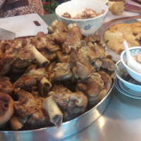 台北市美食 攤販 台式小吃 當歸豬腳 重慶30年老店 照片