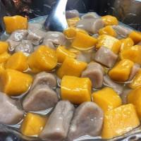 台北市美食 餐廳 飲料、甜品 剉冰、豆花 九份芋圓(臨江夜市) 照片