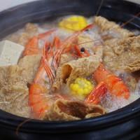 台中市美食 餐廳 火鍋 薑母鴨 呷飽食府 炭燒薑母鴨 大雅總店 照片