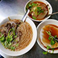 台北市美食 攤販 台式小吃 大橋頭延三夜市 大腸麵線、肉圓、油粿 照片