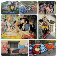 屏東縣休閒旅遊 景點 景點其他 鹽埔海賊王彩繪 照片