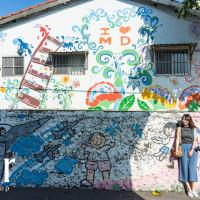 台南市休閒旅遊 景點 公園 警察新村彩繪牆 照片