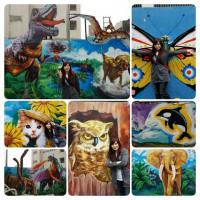 桃園市休閒旅遊 景點 景點其他 內壢國小3D彩繪牆 照片