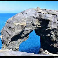 新北市休閒旅遊 景點 海邊港口 象鼻岩海蝕拱門 照片