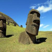 新北市休閒旅遊 景點 海邊港口 摩埃石 Moai 照片