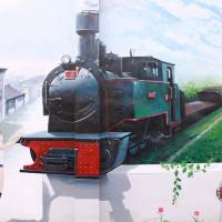 雲林縣休閒旅遊 景點 景點其他 二崙鐵道彩繪 照片