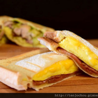 台北市美食 餐廳 速食 早餐速食店 明治天皇現烤三明治專門 照片