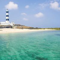 澎湖縣休閒旅遊 景點 海邊港口 目斗嶼燈塔 照片