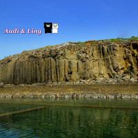 澎湖縣休閒旅遊 景點 海邊港口 池西岩瀑(九孔瀑布) 照片