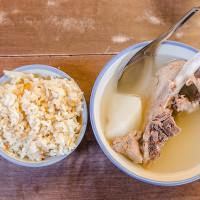 台北市美食 攤販 台式小吃 延三夜市原汁排骨湯高麗菜飯 照片