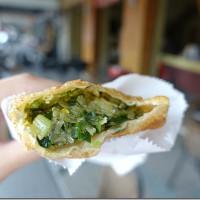 台南市美食 攤販 包類、餃類、餅類 菊媽咪 韭菜盒子 豬肉餡餅 照片