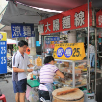 台南市美食 攤販 台式小吃 無名大腸麵線 照片