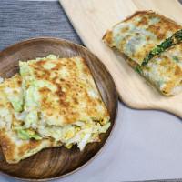 新北市美食 攤販 台式小吃 大智街脆皮蔬菜蛋餅 照片