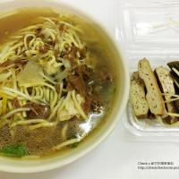 彰化縣美食 攤販 台式小吃 員農素食麵 照片