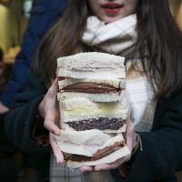 新竹市美食 餐廳 飲料、甜品 鐵三角 碳烤吐司 照片