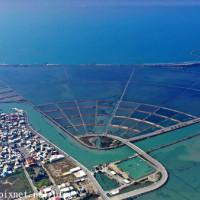 台南市休閒旅遊 景點 海邊港口 青鯤鯓扇形鹽田 照片