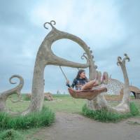 花蓮縣休閒旅遊 景點 公園 新社海稻田夢幻盪鞦韆 照片