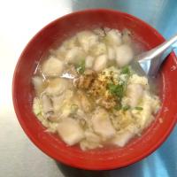 基隆市美食 攤販 台式小吃 基隆仁愛市場 A33 手工海鮮麵疙瘩 照片